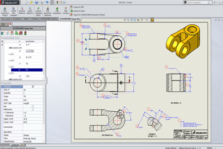 SolidWorks Inspection Estándar
